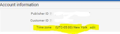 Google Adsense Timezone