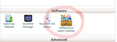 Softaculouos Apps Installer in Cpanel