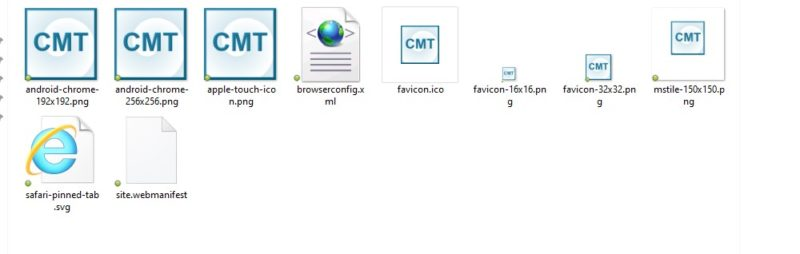 faveicon files package contents