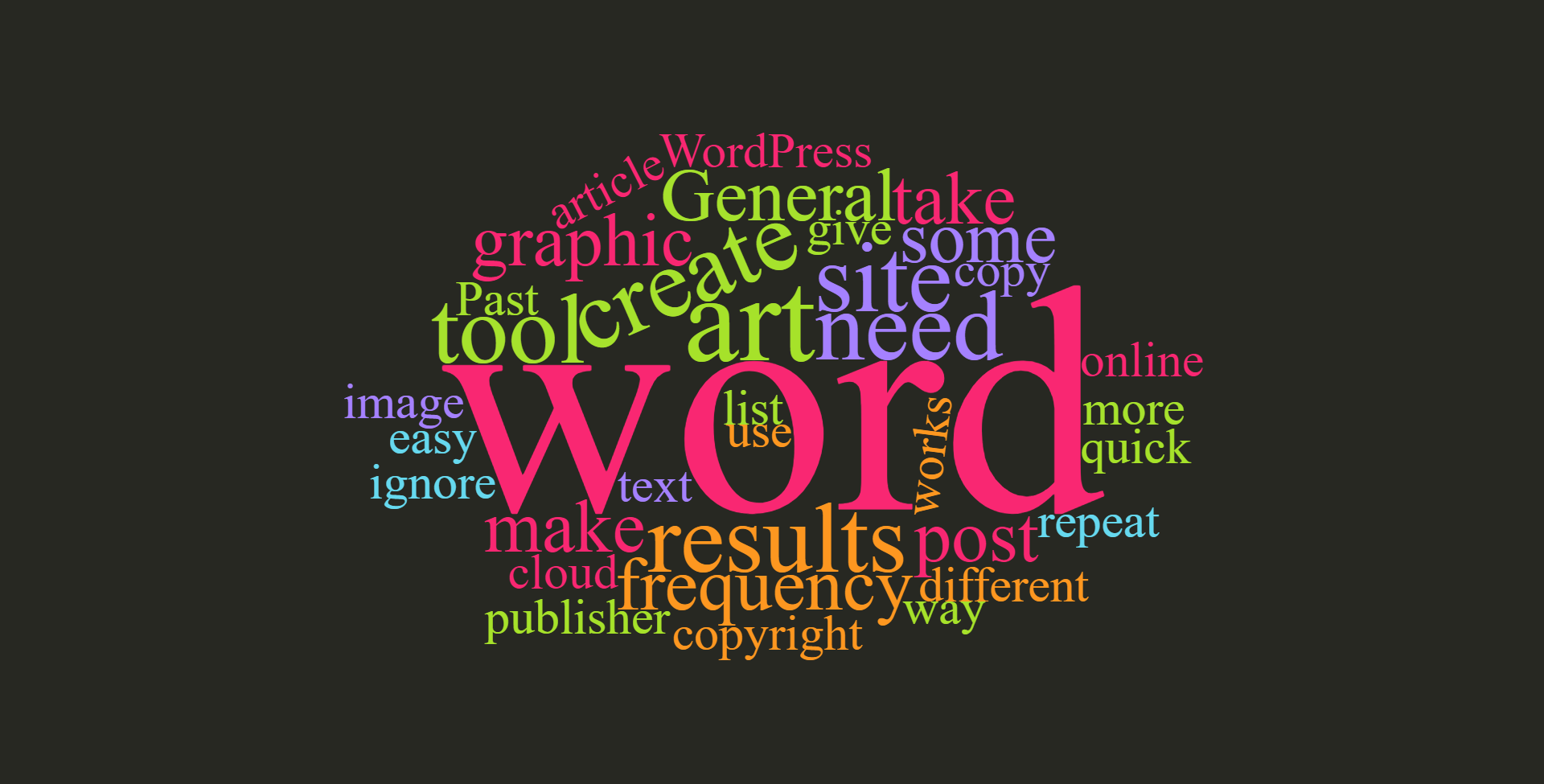 Word Art Sample from https://wordcloud.timdream.org/