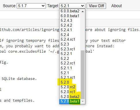 Railsdiff - Select target Rails version